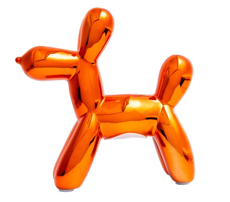 """Interior Illusions Plus Copper Mini Balloon Dog Bank 7.5"""" tall"""