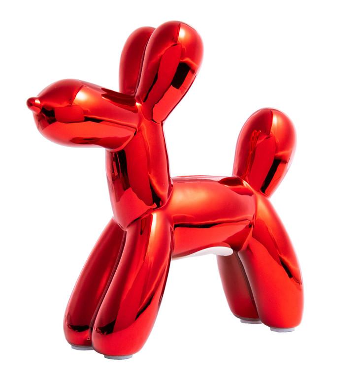 "Interior Illusions Plus Red Mini Balloon Dog Bank 7.5"" tall"