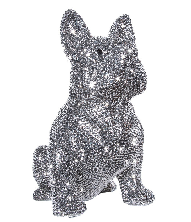 "Interior Illusions Plus Rhinestone French Bulldog Bank - 11.5"" tall"