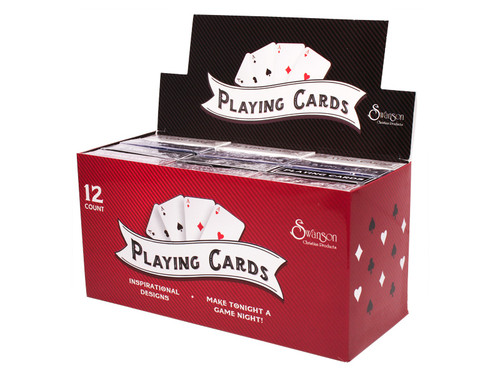 PLAYING CARDS CONTEMPORARY/TRADITIONAL DISPLAY 12CT