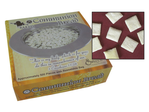 COMMUNION BREAD SQUARES BAKED SWANSON 500CT