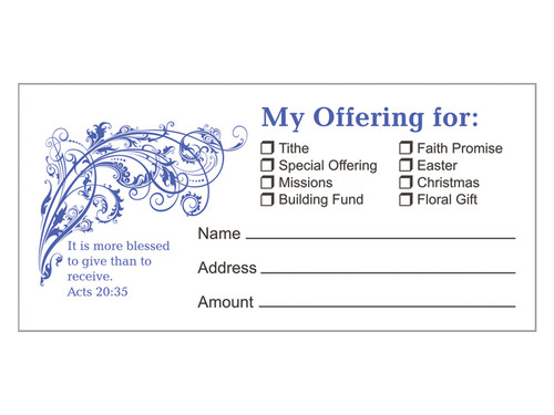 OFFERING ENVELOPE BLESSED TO GIVE 100CT