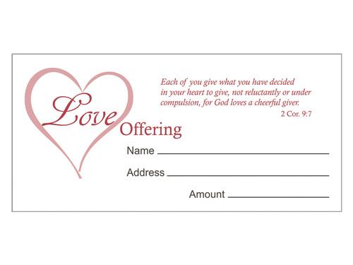 OFFERING ENVELOPE LOVE 100CT