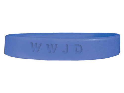 BRACELET SILICONE WWJD ASSORTED COLORS PK25