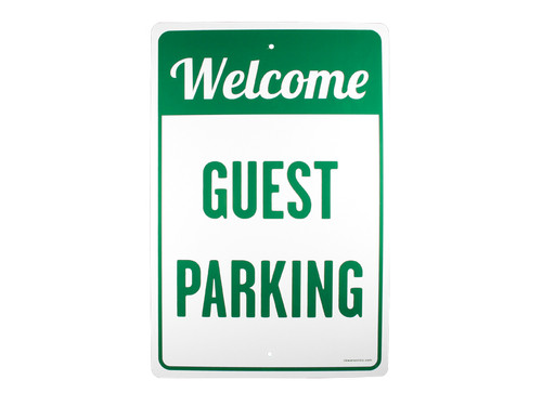 PARKING SIGN WELCOME GUEST
