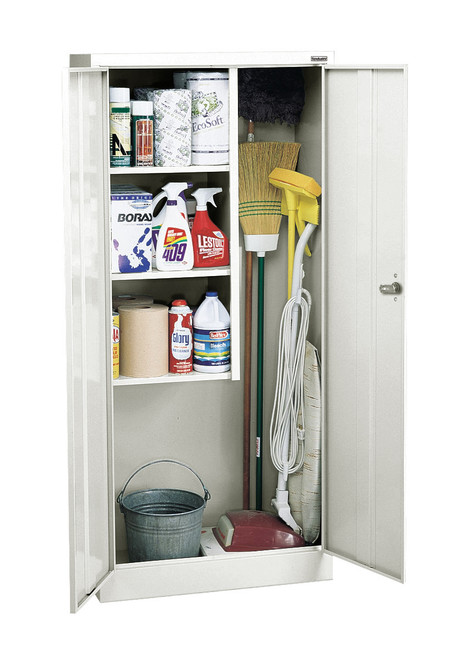 Janitorial Supply Cabinet w/3 side shelves