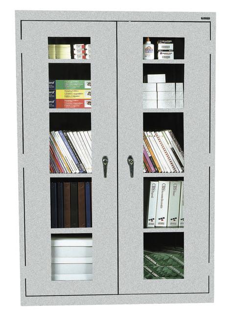 See-Thru Storage Cabinet w/four shelves and bottom shelf