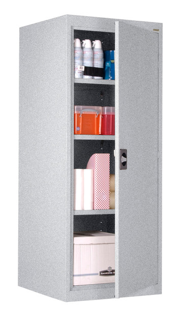 Single Door Storage Cabinet w/three shelves