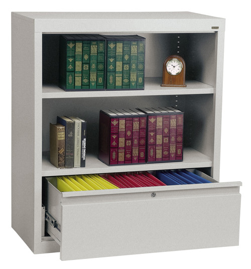 One shelf bookcase w/file drawer