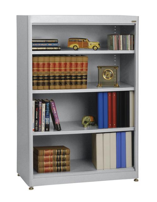 Three shelves and bottom shelf
