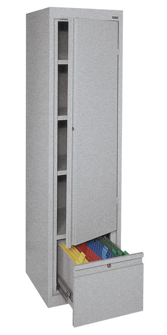 Single Door Storage w/File Drawer