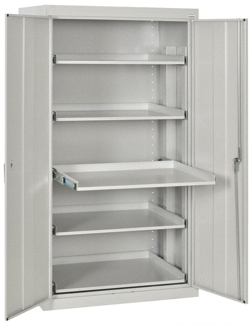 Pull-Out Tray Shelves w/3-point lock