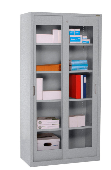 Clearview Cabinet w/four shelves and bottom shelf