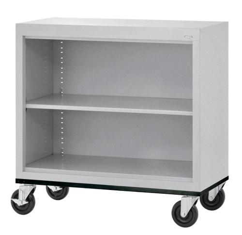 Mobile Bookcase w/one shelf & bottom shelf