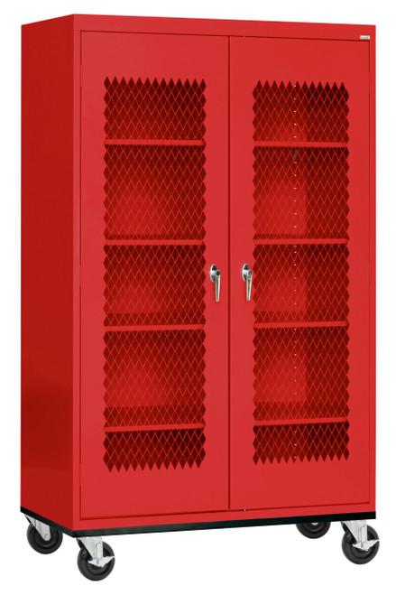 Expanded Metal Front Transport Mobile Cabinet