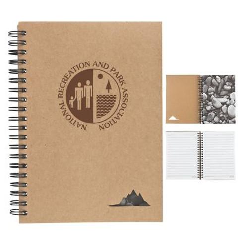 "5"" X 7"" Spiral Stone Paper Notebook"
