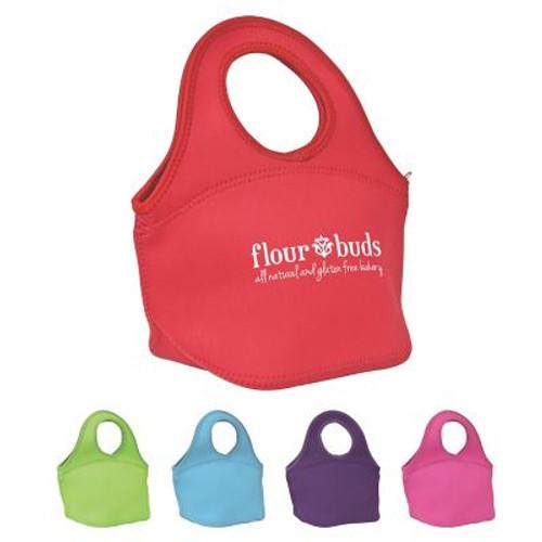 Easy Carry Zippered Neoprene Lunch Bag