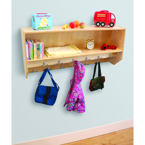 Double Row Wall Mount Coat Rack