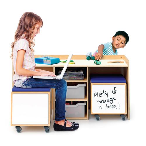 Stem Activity Desk And Mobile Bin Set