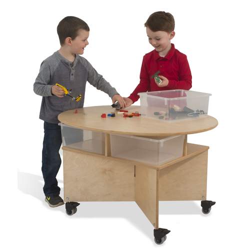 Mobile Collaboration Table With Trays