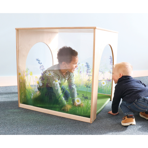 Nature View Playhouse Cube w/Flr Mat Set