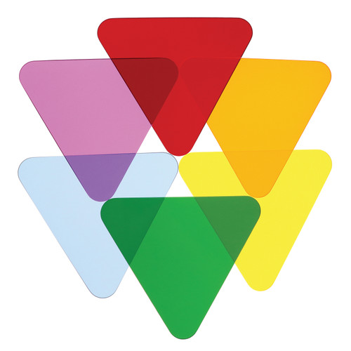 Color Wheel Triangles - Set Of Six