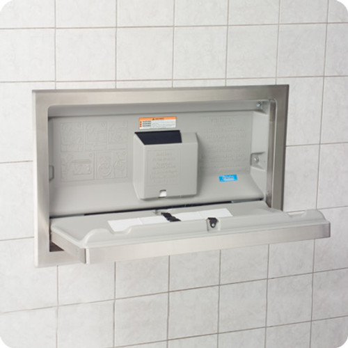 SS Horizontal Recessed Changing Station