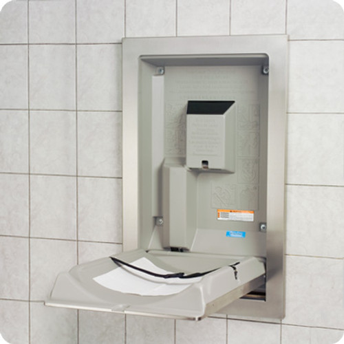 SS Vertical Recessed Changing Station