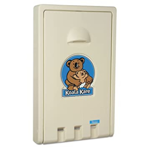 Vertical Plastic Changing Station (Cream)