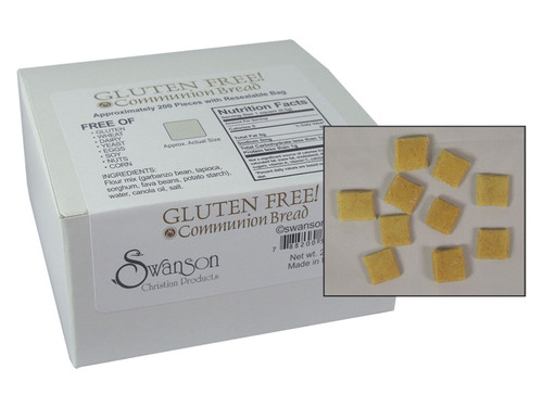 COMMUNION BREAD SQUARES GLUTEN FREE 200CT