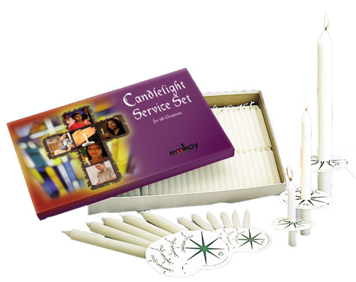 #1 Candlelight Set w/125 Candles