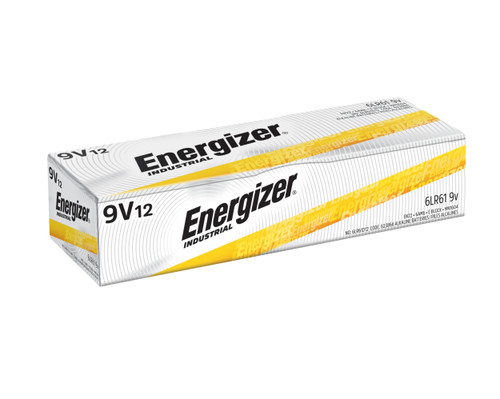 Energizer Industrial 9V Alkaline Battery Case(72)