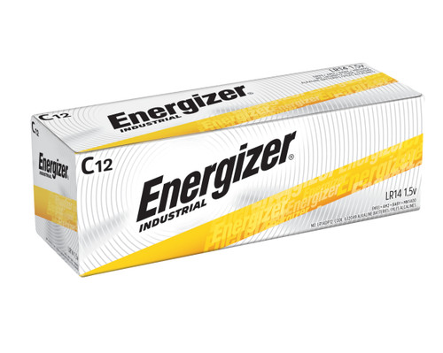 Energizer Industrial C Alkaline Battery Case(72)