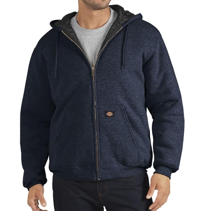 Dickies Heavyweight Quilted Fleece Hoodie - Dark Navy