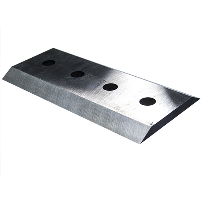 "ACE Chipper Knife 10 1/2"" x 5"" x 1/2"" Double Edge with 4 Holes"