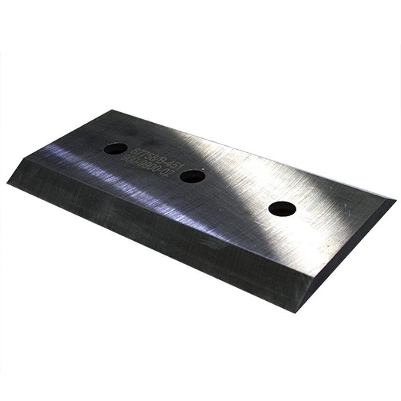 "ACE Chipper Knife 7.2"" x 4"" x .375"" Double Edge, 3 Holes 1/2"" Diameter"