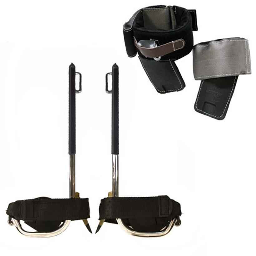 Buckingham BuckAlloy Spurs with Velcro Cushion Wrap Pads