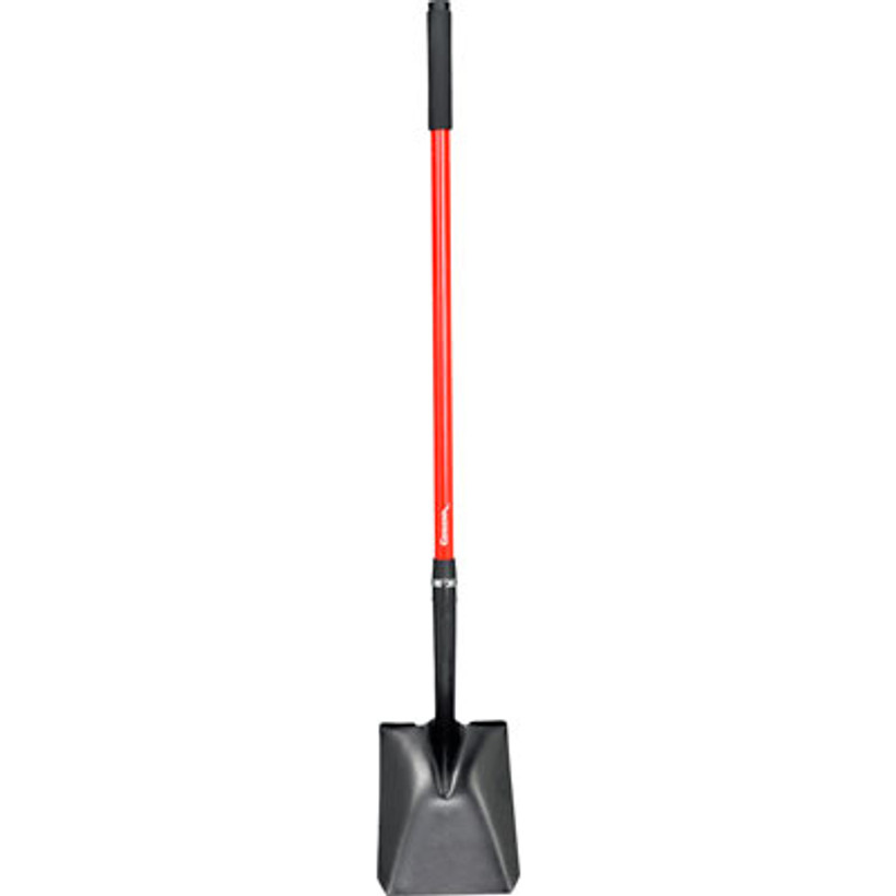 Corona Square Point Lightweight Shovel Non-Slip Fiberglass Handle 15 Gauge Steel