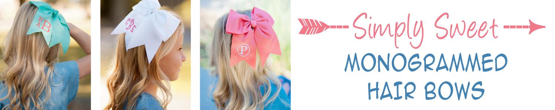 Monogrammed Hair Bows.