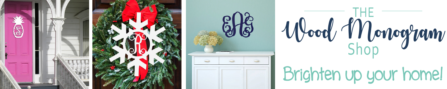 Brighten your home with a wood monogram!
