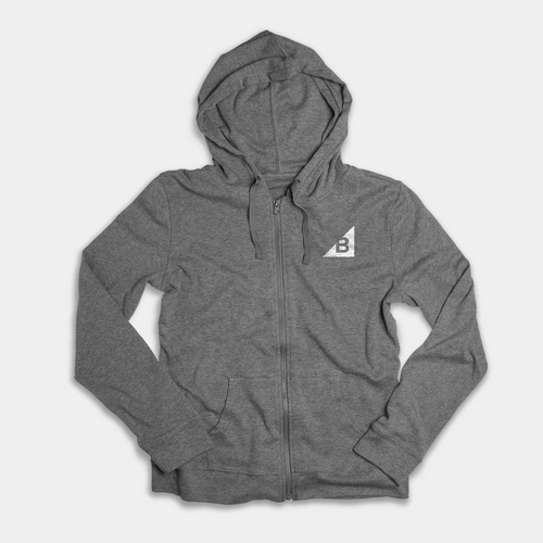 Heather grey hoodie with BigCommerce logo