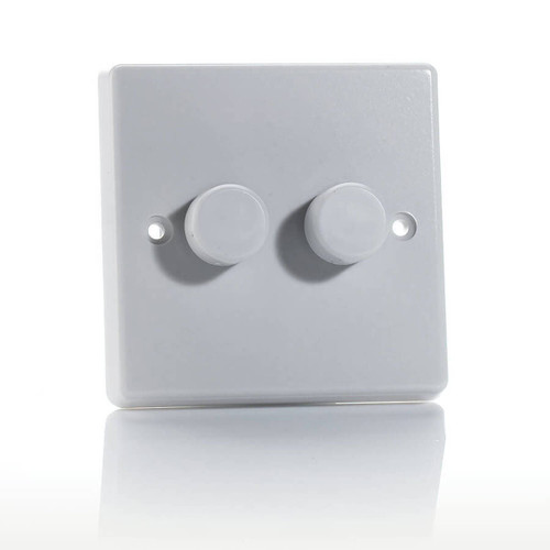 Varilight LED V-Pro Dimmer Switch 250W 2 Gang White Image 1