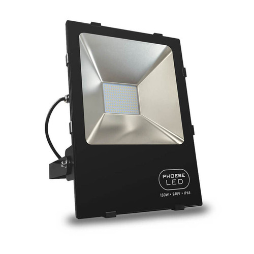 Phoebe LED Floodlight 150W Atlas Daylight 120° Black IP65 Image 1