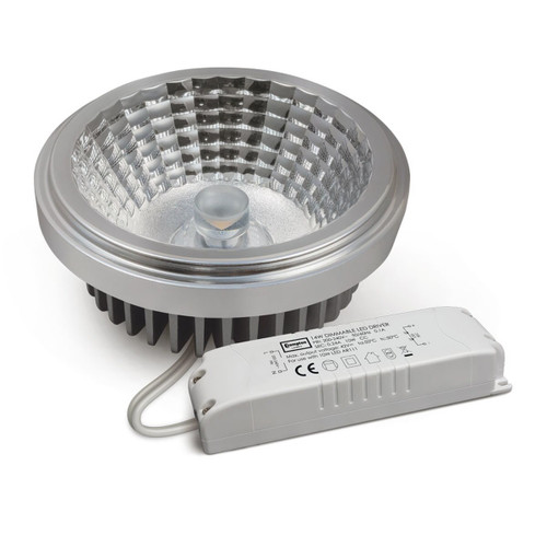 Crompton Lamps Dimmable LED AR111 10W with Driver Warm White 30° (100W Eqv) Image 1