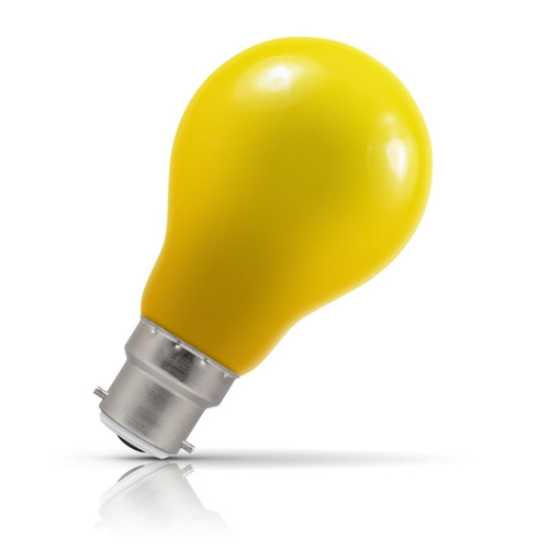 Crompton Lamps LED GLS 1.5W B22 IP65 Yellow Image 1