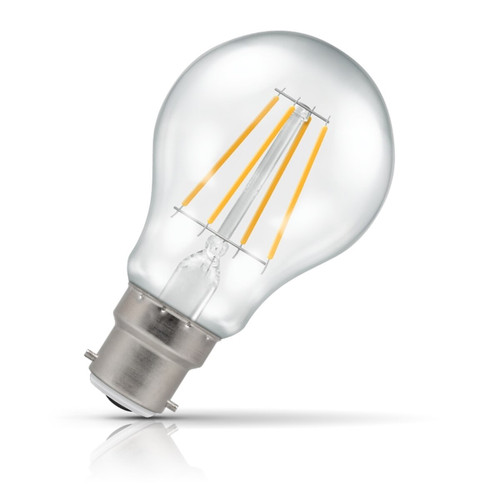 Crompton Lamps Dimmable LED GLS 7.5W B22 Filament Warm White Clear (60W Eqv) Image 1
