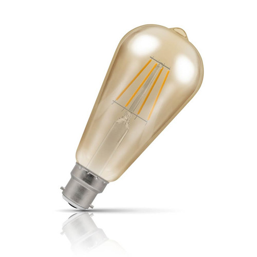 Crompton Dimmable LED Squirrel Cage ST64 5W B22 Filament Extra Warm White Antique Bronze (40W Eqv) Image 1