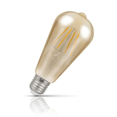 Crompton Dimmable LED Squirrel Cage ST64 5W E27 Filament Extra Warm White Antique Bronze (40W Eqv) Image 1