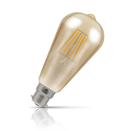 Crompton Dim LED Squirrel Cage ST64 7.5W B22 Filament Extra Warm White Antique Bronze (50W Eqv) Image 1