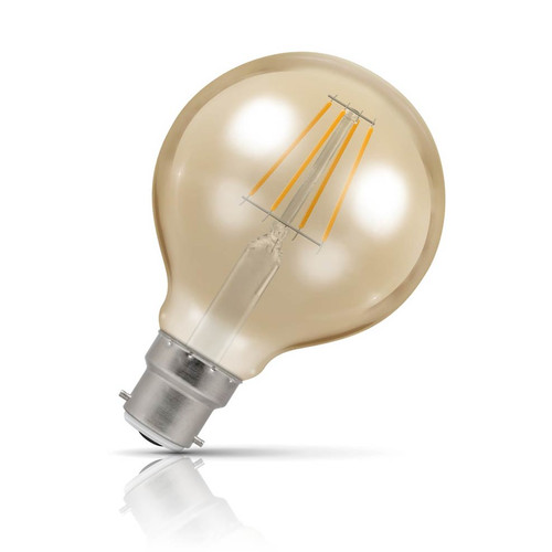 Crompton Lamps Dimmable LED Globe 5W B22 Filament Extra Warm White Antique Bronze (35W Eqv) Image 1